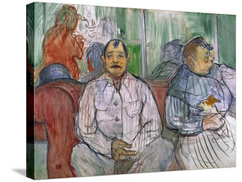 Monsieur, Madame and the Dog, 1893-Henri de Toulouse-Lautrec-Stretched Canvas Print