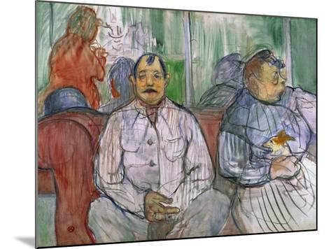 Monsieur, Madame and the Dog, 1893-Henri de Toulouse-Lautrec-Mounted Giclee Print