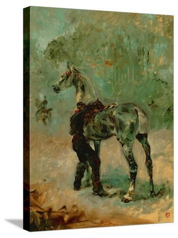 Artilleryman Saddling His Horse, 1878 or 1881-Henri de Toulouse-Lautrec-Stretched Canvas Print