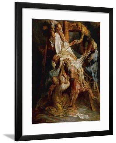 Descent from the Cross-Peter Paul Rubens-Framed Art Print