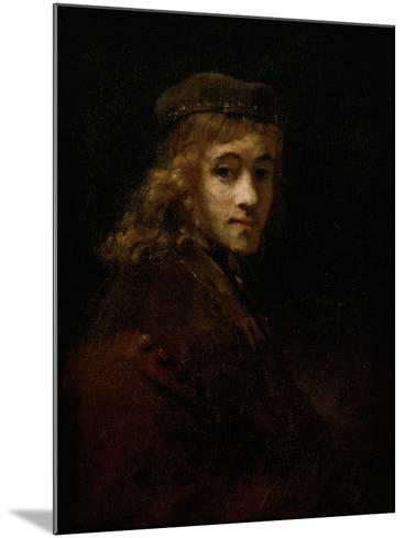 Titus, Rembrandt's Son-Rembrandt van Rijn-Mounted Giclee Print