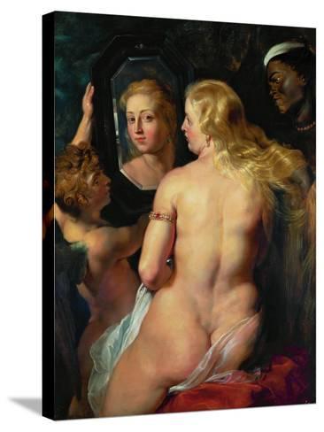 Venus Before a Mirror, 1614-15-Peter Paul Rubens-Stretched Canvas Print