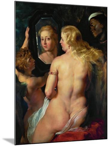 Venus Before a Mirror, 1614-15-Peter Paul Rubens-Mounted Giclee Print