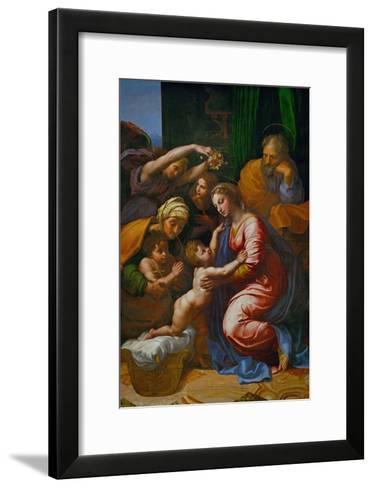 The Holy Family, Called La Grande Sainte Famille De Francois I, 1518-Raphael-Framed Art Print