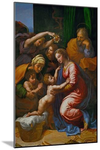 The Holy Family, Called La Grande Sainte Famille De Francois I, 1518-Raphael-Mounted Giclee Print