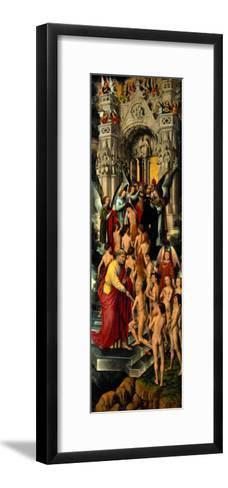 Reception of the Righteous into Heaven, Left Panel of Last Judgment Triptych, 1467-71-Hans Memling-Framed Art Print