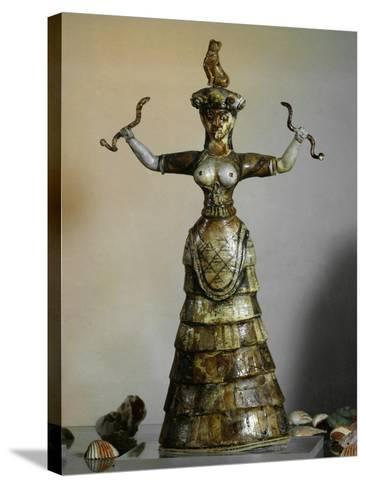 Minoan, Earthenware Figure of Snake Goddess, 1700-1400 BC--Stretched Canvas Print