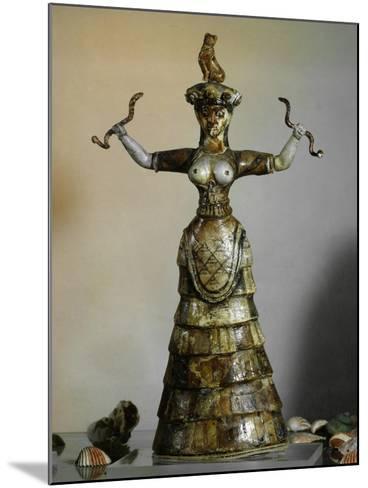 Minoan, Earthenware Figure of Snake Goddess, 1700-1400 BC--Mounted Giclee Print