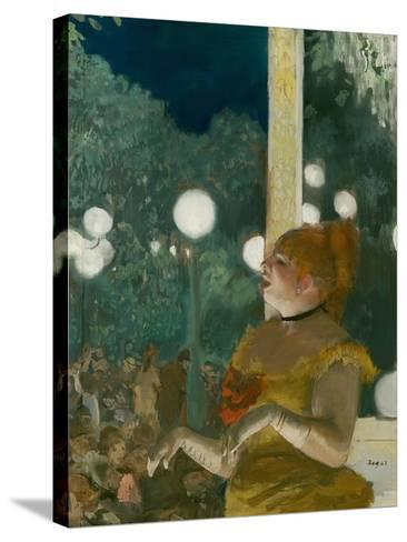 The Song of the Dog, Gouache and Pastel on Monotype-Edgar Degas-Stretched Canvas Print