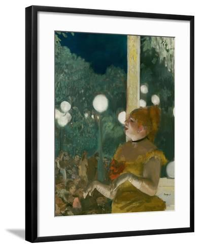 The Song of the Dog, Gouache and Pastel on Monotype-Edgar Degas-Framed Art Print