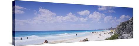 Tourist on the Beach, Cancun, Mexico--Stretched Canvas Print