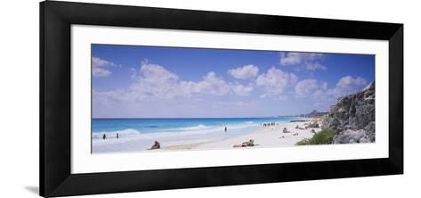 Tourist on the Beach, Cancun, Mexico--Framed Art Print