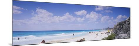 Tourist on the Beach, Cancun, Mexico--Mounted Photographic Print