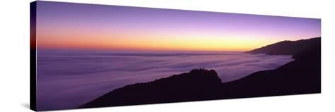 Big Sur at Dusk, Marine Layer, Big Sur, California, USA--Stretched Canvas Print