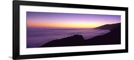 Big Sur at Dusk, Marine Layer, Big Sur, California, USA--Framed Art Print