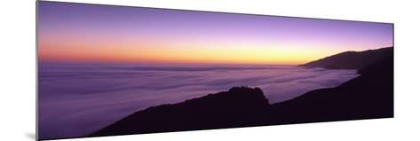 Big Sur at Dusk, Marine Layer, Big Sur, California, USA--Mounted Photographic Print
