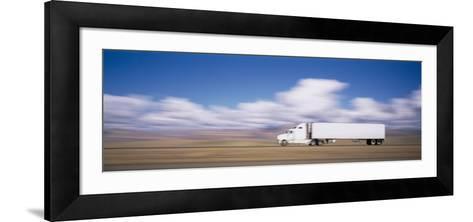 Truck on the Road, Interstate 70, Green River, Utah, USA--Framed Art Print