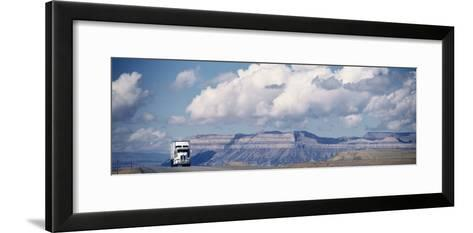 Truck on the Road, Interstate 70, Green River, Utah, USA--Framed Art Print