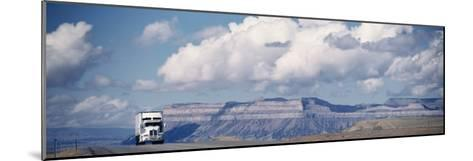 Truck on the Road, Interstate 70, Green River, Utah, USA--Mounted Photographic Print
