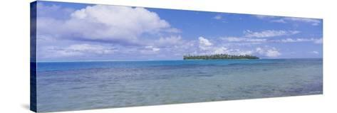 Island Viewed from the Ocean, Bora Bora, French Polynesia--Stretched Canvas Print
