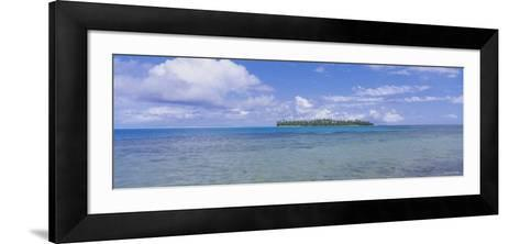 Island Viewed from the Ocean, Bora Bora, French Polynesia--Framed Art Print