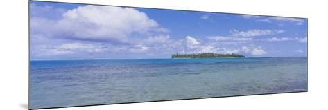 Island Viewed from the Ocean, Bora Bora, French Polynesia--Mounted Photographic Print