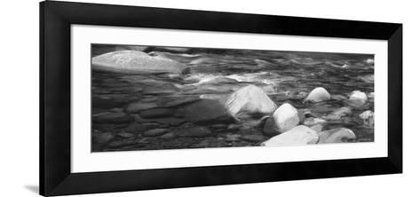 Rocks in the Swift River, White Mountain National Forest, New Hampshire, USA--Framed Art Print