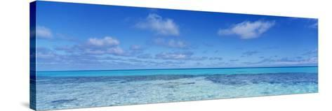 Clouds over the Pacific Ocean, Rangiroa, French Polynesia--Stretched Canvas Print