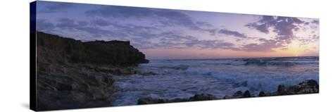Rock Formations at the Coast, Blowing Rocks Preserve, Vero Beach, Florida, USA--Stretched Canvas Print