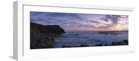 Rock Formations at the Coast, Blowing Rocks Preserve, Vero Beach, Florida, USA--Framed Art Print