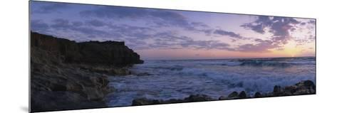Rock Formations at the Coast, Blowing Rocks Preserve, Vero Beach, Florida, USA--Mounted Photographic Print