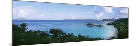 Island and a Beach, Trunk Bay, St. John, US Virgin Islands--Mounted Photographic Print