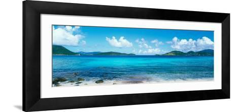 British Virgin Islands, St. John, Sir Francis Drake Channel, View of Sea and Island--Framed Art Print