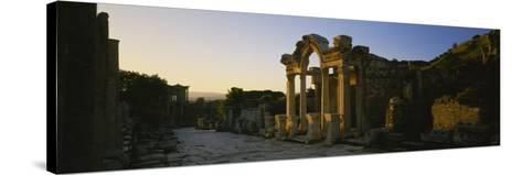 Facade of a Temple, Hadrian Temple, Ephesus, Turkey--Stretched Canvas Print