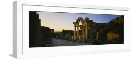 Facade of a Temple, Hadrian Temple, Ephesus, Turkey--Framed Art Print