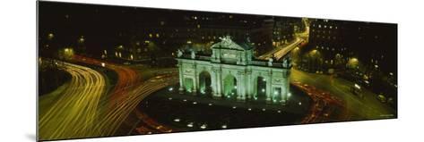 Monument Lit Up at Night, Puerta de Alcala, Plaza de la Independencia, Madrid, Spain--Mounted Photographic Print
