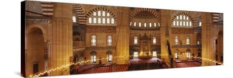 Interiors of a Mosque, Selimiye Mosque, Edirne, Turkey--Stretched Canvas Print