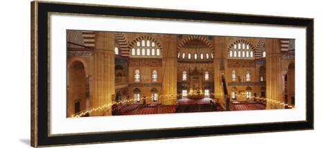 Interiors of a Mosque, Selimiye Mosque, Edirne, Turkey--Framed Art Print