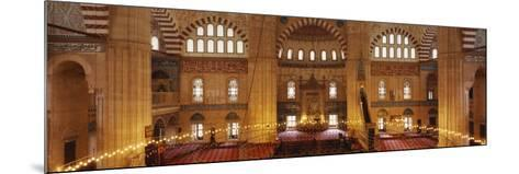 Interiors of a Mosque, Selimiye Mosque, Edirne, Turkey--Mounted Photographic Print