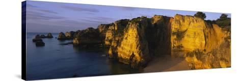 Rock Formations on the Beach, Lagos, Algarve, Portugal--Stretched Canvas Print