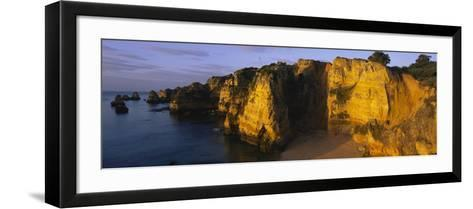 Rock Formations on the Beach, Lagos, Algarve, Portugal--Framed Art Print