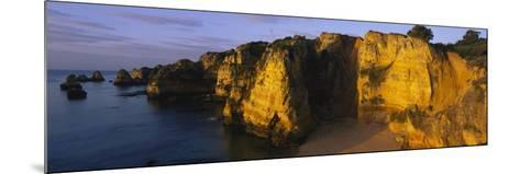 Rock Formations on the Beach, Lagos, Algarve, Portugal--Mounted Photographic Print