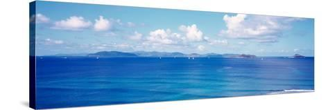 British Virgin Islands, Boats in the Sea--Stretched Canvas Print