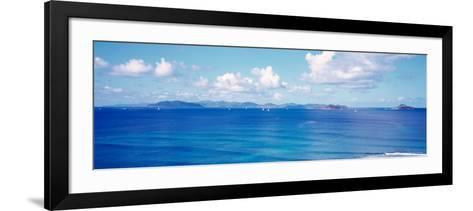 British Virgin Islands, Boats in the Sea--Framed Art Print