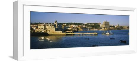 Buildings at the Waterfront, Cascais, Lisbon, Portugal--Framed Art Print