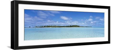 Trees on an Island, Rangiroa, French Polynesia--Framed Art Print