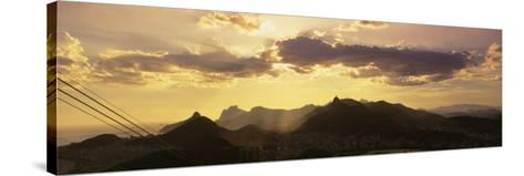 Sugarloaf of Buildings in a City at Dusk, Rio de Janeiro, Brazil--Stretched Canvas Print