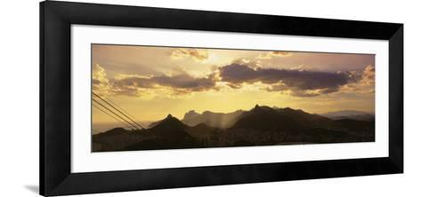 Sugarloaf of Buildings in a City at Dusk, Rio de Janeiro, Brazil--Framed Art Print