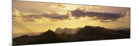 Sugarloaf of Buildings in a City at Dusk, Rio de Janeiro, Brazil--Mounted Photographic Print