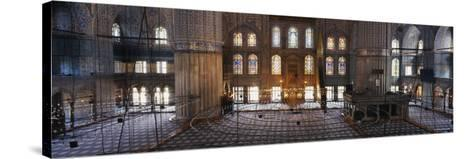Interiors of a Mosque, Blue Mosque, Istanbul, Turkey--Stretched Canvas Print